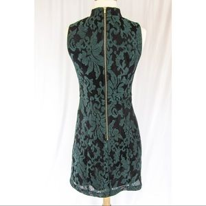 b8ef50f5403e H&M Dresses | Old School Black Mesh Dress W Pine Green Brocade ...